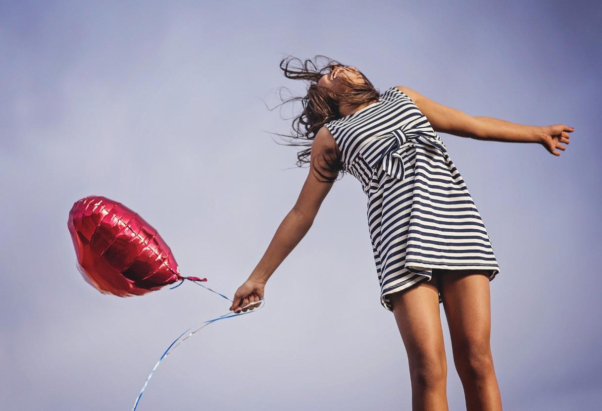 Bonheur et ballon cœur